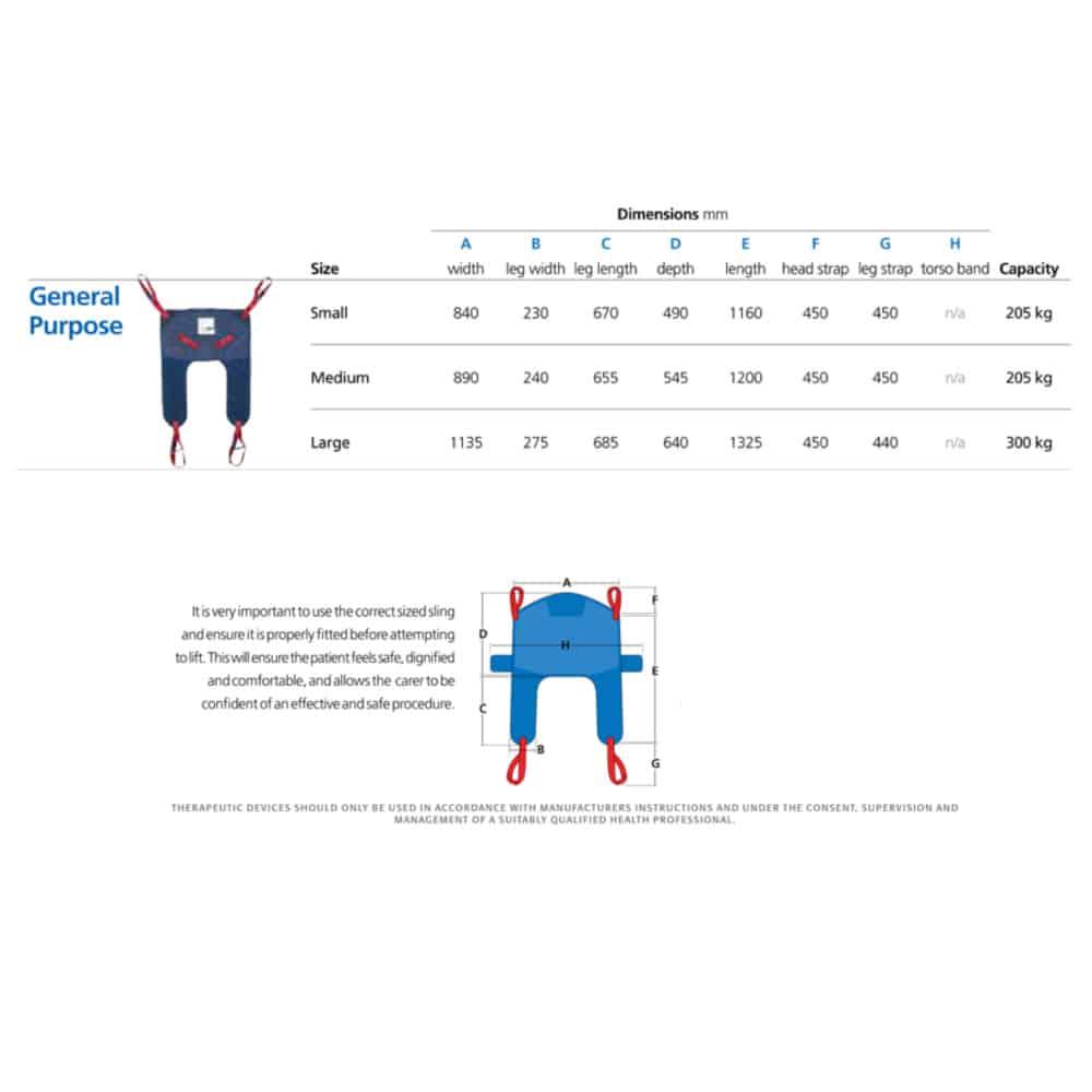 General Purpose Sling sizes 2