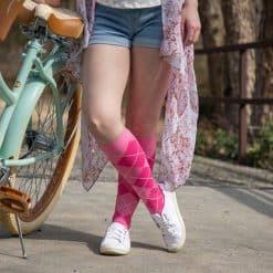 Sigvaris Pink Argyle